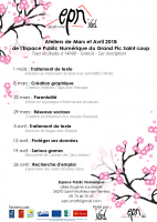 Programme des ateliers - Mars & Avril 2018 - PNG - 261.1 ko